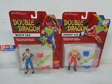 VINTAGE TYCO 1993 DOUBLE DRAGON BILL AND JIMMY LEE FIGURE SET LOT OF 2 BRAND NEW