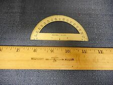 Vintage Drafting tool Drafting Protractor metal  Eagle pencil Co approx 3.75 in