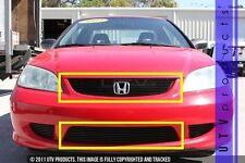 GTG 2004 - 2005 Honda Civic 2dr 2PC Gloss Black Overlay Combo Billet Grille Kit