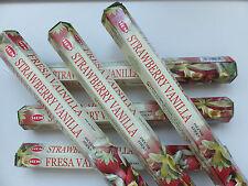 20 unidades inciensos hem strawberry vainilla fresa-incense Sticks