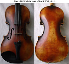 INTERESTING OLD GERMAN VIOLIN - VIDEO - ANTIQUE FINE RARE バイオリン скрипка 小提琴 938