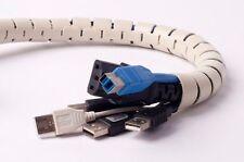 Flexible Cord Cable Wire Organizer Wraps Management Hiding -2.5cm Dia (beige)