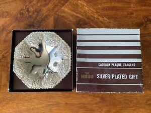 Mint! Pretty 1960's Vintage Retro Hugo Silver Plated Serving Bowl
