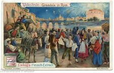 Volksfeste . Girandola in Rom. Festivals folkloriques. Girandola à Rome