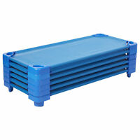 Stackable Kiddie Cot Standard Ready-to-Assemble - Blue