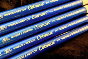 Winsor and Newton Cotman artists watercolour brushes. Round,Angled,Rigger+Wash.