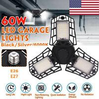 60W 144LED Triple Glow Deformable Garage Light Premium 6000 Lumens LED Light -US