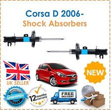 For Vauxhall Corsa D MK3 S07 2006- Two Front Gas Shock Absorbers Set Pair New