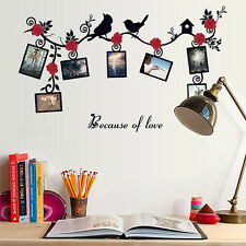 Cute Birds Floral Wall Stickers Home Living Room Decor Removable Vinyl Art Decal
