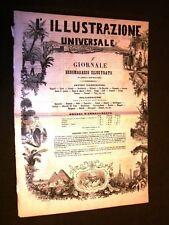 Ebdomadario Illustrato 4 fogli Illustrazione Universale 1864 Sonzogno £ 1 N° 14