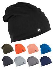 Unisex Cotton Slouch Beanie Hat, Soft Stretch Jersey, Warm, Ski Sports Leisure