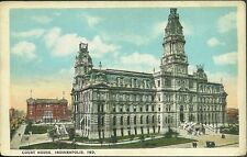 Pre 1930 unused postcard court house indianapolis indiana PC