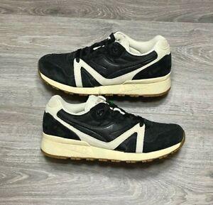 NEW Diadora N9000 Black Beige Cream Vanilla Suede Running Shoes Men's Size 10