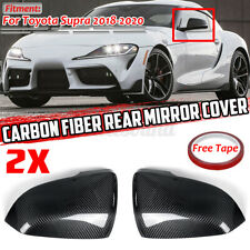 REAL Carbon Fiber Side Door Mirror Cover Trims for Toyota GR Supra 2018-2020
