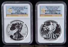 New listing 2013-W Silver Eagle West Point Set Ngc Pf69 & Sp69 Er Matching Cert.# Gold Star