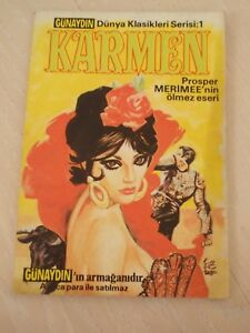 CARMEN -PROSPER MERIMEE classics illustrated TURKISH RARE TURKEY