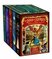 The Land of Stories SEALED Hardcover BRAND NEW Chris Colfer 5 BOOKS Lot BOXED