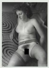 Pensive Busty Nude Curlyhead On 70s Carpet / Boobs (Photo DDR 70s/80s)