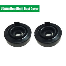 2Pcs 70mm Car Headlamp Headlight Waterproof Dustproof Cap Soft Rubber Seal Cover