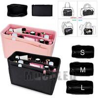 Fabric Multi-Pocket Purse Handbag Insert Bag Felt Tote Organizer Bag Makeup Bag
