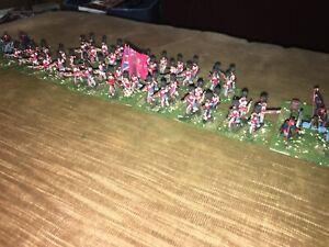 56 Painted 1/72 Crimean War British Coldstream Guards w 2 Gun Artillery Section