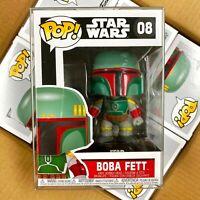 "Funko Pop Star Wars : BOBA FETT #08 Vinyl w/Protector Case ""Mint Box"""