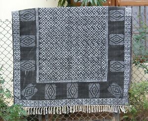 Indian Handmade area rug Boho kitchen rug Living room carpet Cotton kilim 6x9 ft