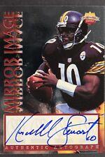 1997 Score Board Playbook Mirror Image Kordell Stewart Signed Steelers #/550 TC