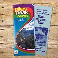 Vintage Brochures Pikes Peak Colorado CO Guide Motel 1976 Travel Advertising