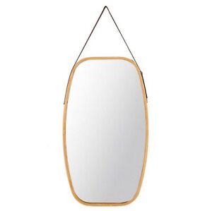 74cm Wood Rectangular Wall Mirror Brown Frame Vanity Makeup Bathroom Large Hang