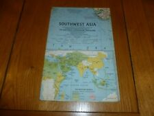 SOUTHWEST ASIA - National Gegraphic MAP - ATLAS PLATE 48 / May 1963