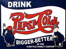 "Pepsi Cola, stile retrò vintage in metallo Insegna Bar Pub Club Man Grotta (10"" x 8"")"