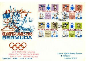 BERMUDA  1968 Olympic Games set  FDC  #226-229