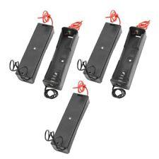 5 Stk Schwarz Plastik Battery Storage Case Box Holder for 18650 3.7V DIY Neu