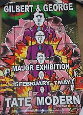 GILBERT & GEORGE Affiche signée poster handsigned Major Exhibition V London