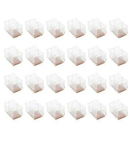 Maydahui 24PCS Chair Leg Floors Protector Rubber Covers Rectangle Silicone Caps