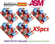 5pcs DC DC Boost Power Supply XL6019 Voltage Stabilized 5V/12V/24V Adjustable