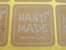 """120 Etiketten """"Hand made"""" selbstklebend quadratisch 35mm nenad-design"""