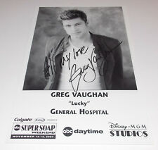 Greg Vaughan Autograph Reprint Photo 9x6 General Hospital 2004 Days Of Our Lives