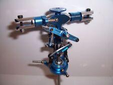 Hauptrotorkopf V2/V3 Paddel FB T Rex 450 Copter X Clone Alu blau elexoiert
