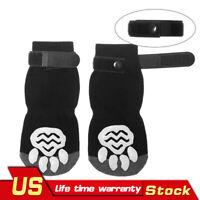 4PCS Anti-Slip Traction Control Cotton Socks Dog Nonskid Socks Paw Protector