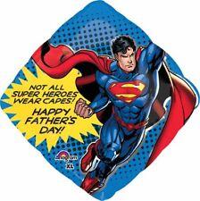 FATHER'S DAY SUPERMAN SUPER HERO SUPER SHAPE FOIL BALLOON PARTY DECORATION 73CM