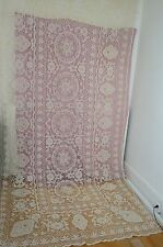 Unused Vintage Handmade Needlelace Banquet Tablecloth & 12 Napkins Ss394