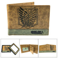 Attack on Titan fold short wallet waterproof purse cards money bag wallets