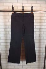 Express Editor Womens Dress Pants Slacks Sz 4 R Regular Black Pinstriped Bootcut