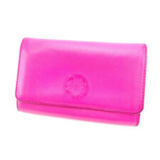 Nina Ricci Wallet Purse Bifold Logo Pink Gold Woman Authentic Used G739