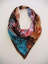 """Soft Satin Scarf Wrap Silk Feeling 35"""" * 35"""" (90cm× 90cm) #9"""
