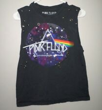 PINK FLOYD retro T shirt small tank-top Dark Side of Moon prog-rock sleeveless