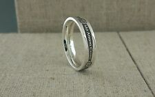 Sterling Silver Narrow Irish Gaelic Siorai Promise Wedding Ring Ireland by Boru