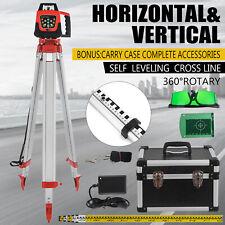 ROTARY GREEN LASER LEVEL + TRIPOD + STAFF ELECTRONIC SELF-ROTATING AUTO LEVELS
